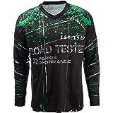 JPOJPO Men's Cycling Jersey MTB T Shirt Long Sleeve Mountain Bike Motorcycle Bicycle Clothes Anti-UV