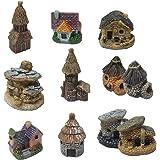 Miniature Fairy Garden House - Miniature Garden Decorations Fairy Houses For Gardens, Mini Fairy Cottage House For Garden & P