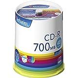 バーベイタムジャパン(Verbatim Japan) 1回記録用 CD-R 700MB 100枚 ホワイトプリンタブル 48倍速 SR80FP100V1E