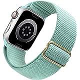 「Amazon限定ブランド」Apple Watch バンド 42mm 44mm アップルウォッチ バンド 調節可能 - iWatch Series 7/6/5/4/SE 対応用 スポーツバンド 柔らかいナイロンループバンド 交換バンド 通気性 軽量