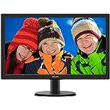 """Philips 243V5QHABA LED-Lit Monitor 24"""", Black"""