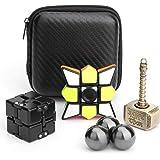 Handheld Finger Fidget Toy Set Sphere Fidgit Balls,Infinity Cube,Fidget Cube,Flippy Chain,Fidget Spinner Stress and Anxiety R
