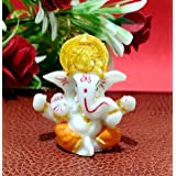 "Sawcart 2.5"" Lord Ganesha/Ganpati Small Statue Decorative Religious Puja Idol Figurine Sculpture Hindu God of Success, Prospe"