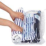 Hibag Premium Space Saver Bags, 20 Pack Vacuum Compression Bags (2Small, 6Medium, 5Large, 5Jumbo, 2Jumbo+) with 2 Free Roll U