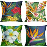 Britimes Throw Pillow Covers Home Decor Set of 4 Pillow Cases Decorative 1818 Inches Outdoor Cushion Couch Sofa Pillowcases T
