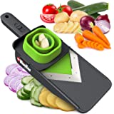 Mueller Handheld Vegetable V Slicer Salad Utensil, Perfect for Salad Zucchini Carrots Onions and All Vegetables, Make Low Car