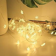 Salcar 10m100球USB式LEDイルミネーションライト 銅線ワイヤーライト 電飾 結婚式 クリスマス ハロウィーン 電球色