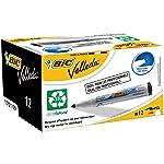 BIC Velleda 1701 Whiteboard Markers Medium Bullet Tip - Black, Box of 12