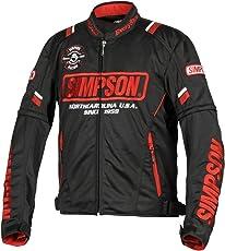 シンプソン(SIMPSON) バイク用ジャケット Mesh Jacket(メッシュジャケット) ブラック/レッド M SJ-8117