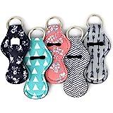 Cool Chapstick Holder Lanyard Keychain (5 Pack) Neoprene Chapstick Holder Keychain to Match Neck and Wrist Lanyard