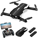 Drones with 1080P HD Camera for Beginners Adults,JJRC H71 Foldable Drone with Optical Flow Positioning, FPV Wifi Live Video Q