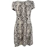 City Studios Trendy Plus Size Snake-Print T-Shirt Dress