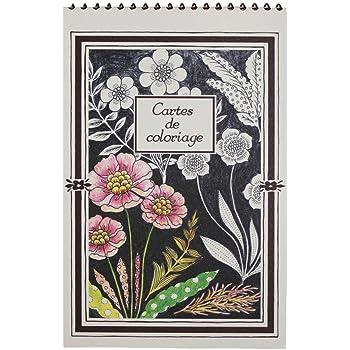 カルトドゥコロリアージュ 塗り絵ポストカード(15枚セット) くさばな GCC01