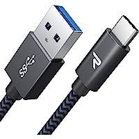 Rampow USB Type C ケーブル【1m/黒/保証付き】急速充電 QuickCharge3.0対応 USB3.1 Gen1規格 Sony Xperia XZ/XZ2, Samsung S10, Asus Zenfone 2, Fujitsu Arrows, iQOS(アイコス)3, GoPro Hero 5/6 タイプc多機種対応 在宅勤務支援