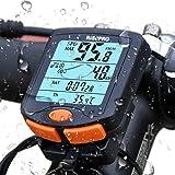 Bike Computer, RISEPRO® Wireless Bicycle Speedometer Bike Odometer Cycling Multi Function Waterproof 4 Line Display with Back