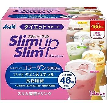 スリムアップスリム プレシャス シェイク 14食分 (マンゴー、抹茶、カフェラテ、黒ごまミルク、イチゴ、バナナ、ショコラ)