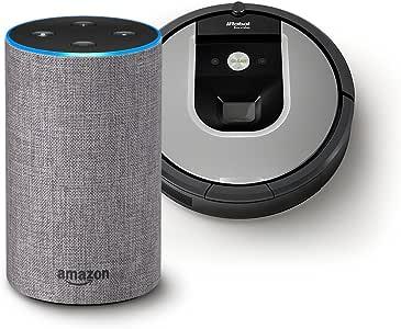 【Amazon.co.jp 限定】アイロボット ロボット掃除機 ルンバ961 R961060 +Amazon Echo (Newモデル)、ヘザーグレー (ファブリック)