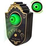 Halloween Decoration, Halloween Doorbell, Haunted Doorbell Animated Eyeball Halloween Decor with Spooky Sounds, Trick or Trea