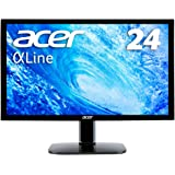 Acer モニター ディスプレイ AlphaLine 24インチ KA240Hbmidx フルHD TN HDMI DVI D-Sub スピーカー内蔵 ブルーライト軽減 VESA対応