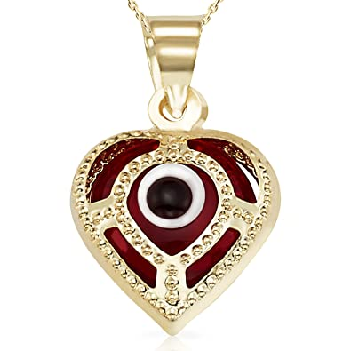 Amazon 14 kevil eye good luck amazon 14 kevil eye good luck pendant with chain for women and girls mozeypictures Gallery