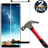 [2 Pack]Samsung Galaxy Note 8 Screen Protector Tempered Glass Film[Case Friendly][Anti-Bubble][3D Curved][3d Full Coverage][9