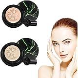 2Pcs Mushroom Head Air Cushion CC Cream, Concealer Moisturizing Makeup BB Cream, Waterproof BB Air Cushion, Bright Makeup Bas