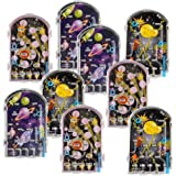 Gamie Mini Pinball Games for Kids, Set of 24, Space Party Favors for Kids, Galaxy-Themed Party Goodie Bag Fillers, Holiday St