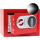 SamYerSafe Safe Box with Sensor Light,Security Safe with Electronic Digital Keypad Money Safe Steel Construction Hidden with