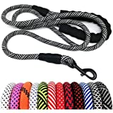 "MayPaw Heavy Duty Rope Dog Leash 6Ft, 1/2"" Thick Nylon Pet Training Leash, Soft Padded Handle Lead Leash for Large Medium Dog"