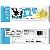Julian Bakery Paleo Thin Protein Bar® (Vanilla Pudding) 12 Bars (20g Grass-Fed Beef) (Low Net Carbs) (w/Organic Prebiotics +