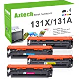 Aztech Compatible Toner Cartridge Replacement for HP 131X 131A CF210X CF210A CF211A CF212A CF213A Pro 200 M276n M276nw M251n