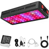 Phlizon Newest 600W LED Plant Grow Light,with Thermometer Humidity Monitor,with Adjustable Rope,Full Spectrum Double Switch P