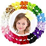 4.5 Inch Hair Bows Grosgrain Ribbon Boutique Hair Bow Clips For Girls Teens Toddlers Kids Set Of 30 (15 Colors 2)