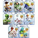 Hot Wheels Toy Story 4 - Complete Set of 8 Collectible Character Cars - Woody, Buzz Lightyear, Alien, Rex, Forky, Bo Peep, Du