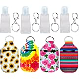Hand Sanitizer Keychain Holder, Topcent 4Pcs Small Empty Travel Size Bottle Refillable Containers for Lotion, and Liquids - 3