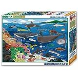 ビバリー 80ピース ジグソーパズル 学べるジグソーパズル 海の生き物おぼえちゃおう! ラージピース(26×38cm)