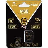 64GB Micro SD SDXC Memory Card Plus Adapter Pack (Class 10 U3 UHS-I V30 A1 MicroSD XC Extreme Pro) Amplim 64 GB Ultra High Sp