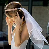 xo, Fetti Bachelorette Party Veil - Rose Gold Crystal Crown   Bridal Shower Veil   Bride to Be Gift, Bachelorette Favor + Eng
