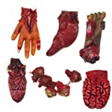 VUAOHIY Halloween Decorations Blood Props Fake Scary Severed Hand Broken Body Parts for Haunted House Halloween Vampire Zombi