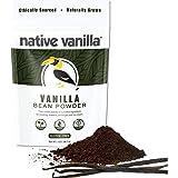 Native Vanilla - Premium Gourmet 100% Pure Ground Vanilla Bean Powder (56.7g) - For Coffee, Baking, Ice Cream, Keto-Friendly