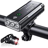Bestore 自転車 ライト 【大容量5200mAh USB充電式 】 自転車ヘッドライト LED USB充電 防水 800ルーメン 自転車用ヘッドライト テールライト付き モバイルバッテリー機能付き 3つ調光モード クロスバイク ロードバイク ラ