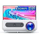 WiMiUS プロジェクター 9500lm 5.0GWiFi Bluetooth 5.0 リアル1920*1080P 4K対応 台形補正 50%ズーム機能 300インチ 大画面 家庭用 WiFi/Bluetooth/USB/HDMI/AV/3.5mm