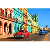 1000 Pieces Jigsaw Puzzles for Adults, Intellectual Educational 30×20 Inch Puzzle Game,Colorful Havana Difficult Puzzle Art f