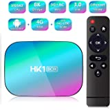HK1 Box Android 9.0 Smart TV Box Amlogic S905X3 CPU 4GB RAM 64GB 2.4G+5G WiFi 1000M BT4.0 8K Smart Media Player for Netflix Y