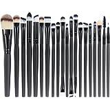 EmaxDesign 20 Pieces Makeup Brush Set Professional Face Eye Shadow Eyeliner Foundation Blush Lip Make up Brushes Powder Liqui