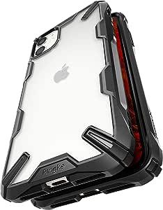 【Ringke】iPhone 11 ケース iPhone11 スマホケース ストラップホール [米軍MIL規格取得] クリア 透明 落下防止 カバー Qi ワイヤレス充電対応 iPhone ケース Fusion-X (Black ブラック)