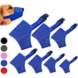 Coppthinktu Dog Muzzle Suit, 7PC Dog muzzles for Biting Barking Chewing, Adjustable Dog Mouth Cover for Small Medium Large Do