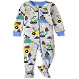 The Children's Place Baby and Toddler Boys Dino Construction Snug Fit Cotton One Piece Pajamas