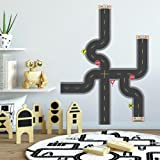 RoomMates Build-A-Road Peel and Stick Wall Decals,Multicolor