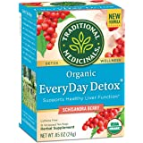 Traditional Medicinals Organic EveryDay Detox Tea, Supports Healthy Liver Function, (Pack of 6) - 96 Tea Bags Total